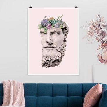 Poster - Testa Con Succulente - Verticale 4:3