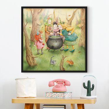 Poster con cornice - Frida At The Witches Meeting - Quadrato 1:1