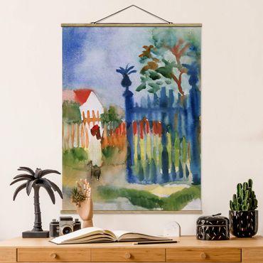 Foto su tessuto da parete con bastone - August Macke - Garden Gate - Verticale 4:3