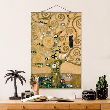 Foto su tessuto da parete con bastone - Gustav Klimt - Tree Of Life - Verticale 3:2