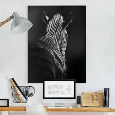 Stampa su tela - Scuro silhouette zebra - Verticale 3:4