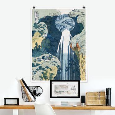Poster - Katsushika Hokusai - La cascata di Amida - Verticale 4:3