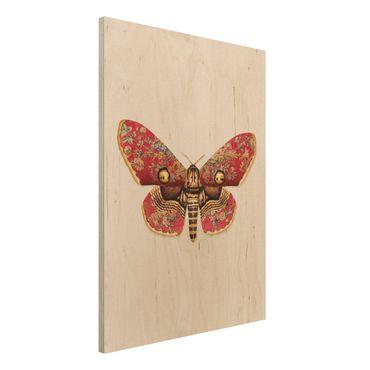 Stampa su legno - Vintage Moth - Verticale 4:3