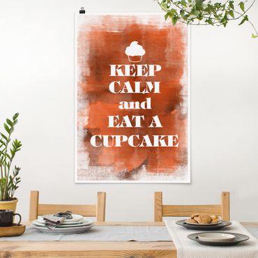 Poster - No.EV71 Mantieni la calma e mangiare un Cupcake - Verticale 3:2