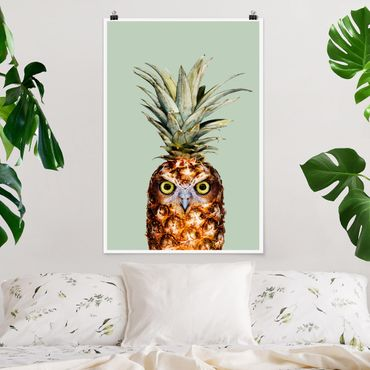 Poster - Jonas Loose - Ananas con civetta - Verticale 3:2