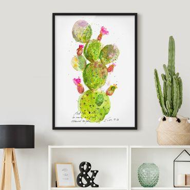 Poster con cornice - Cactus Con Bibellvers III - Verticale 4:3