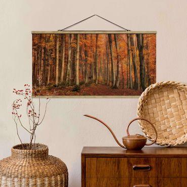 Foto su tessuto da parete con bastone - Autunno a piedi - Orizzontale 1:2