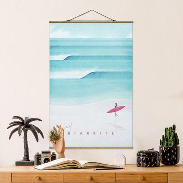 Foto su tessuto da parete con bastone - Poster TRAVEL - Biarritz - Verticale 3:2