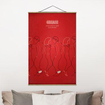 Foto su tessuto da parete con bastone - Grease Movie Poster - Verticale 3:2
