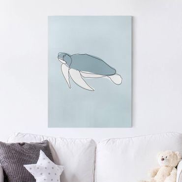 Quadri su tela - Turtle Line Art