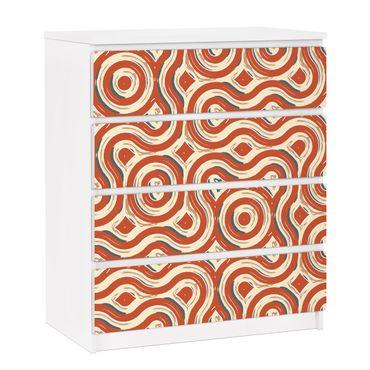 Carta adesiva per mobili IKEA - Malm Cassettiera 4xCassetti - Abstract ethnic texture