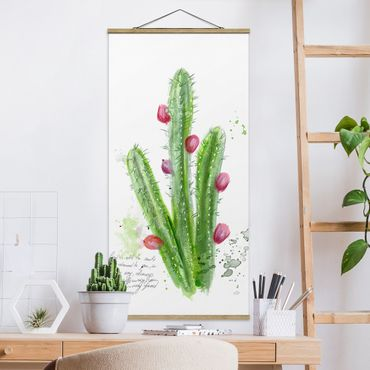 Foto su tessuto da parete con bastone - Cactus Con Bible Verses II - Verticale 2:1