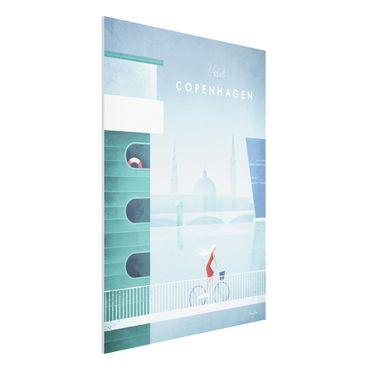Stampa su Forex - Poster di viaggio - Copenaghen - Verticale 4:3