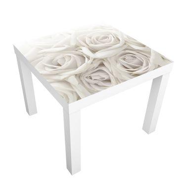 Carta adesiva per mobili IKEA - Lack Tavolino White Roses