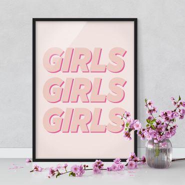 Poster con cornice - Girls Girls Girls - Verticale 4:3