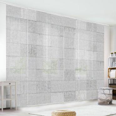 Tende scorrevoli set - Concrete Tile Look Grey