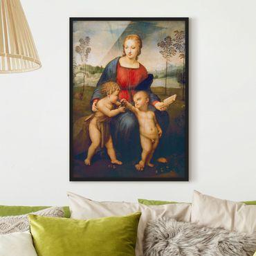 Poster con cornice - Raffael - Madonna Of The Goldfinch - Verticale 4:3