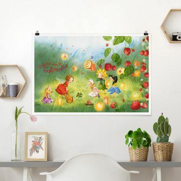 Poster - Strawberry Coniglio Erdbeerfee - Lanterne - Orizzontale 2:3