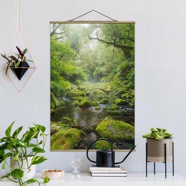 Foto su tessuto da parete con bastone - Baia di Plenty - Verticale 3:2