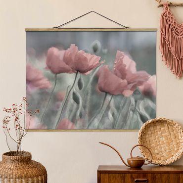 Foto su tessuto da parete con bastone - pittoreschi Poppies - Orizzontale 3:4