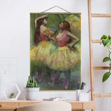 Foto su tessuto da parete con bastone - Edgar Degas - Due danzatori - Verticale 3:2