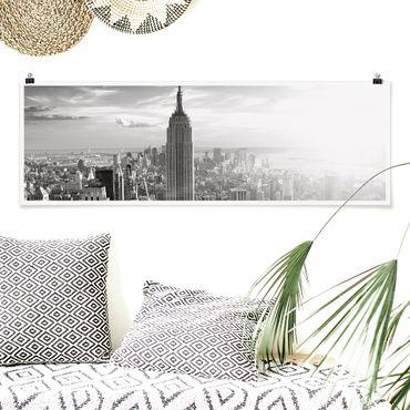 Poster - skyline di Manhattan - Panorama formato orizzontale