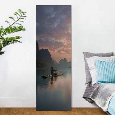 Stampa su tela - Alba sul fiume cinese - Pannello
