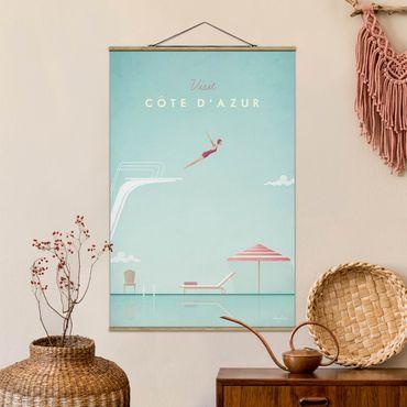 Foto su tessuto da parete con bastone - Poster Viaggi - Côte d'Azur - Verticale 3:2