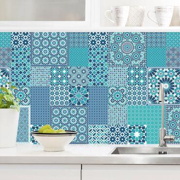 Rivestimento cucina - Mosaici marocchini turchese