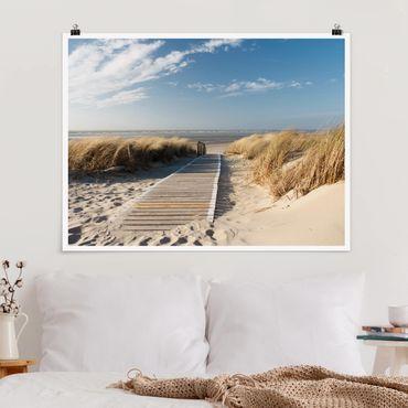 Poster - Spiaggia del Mar Baltico - Orizzontale 3:4