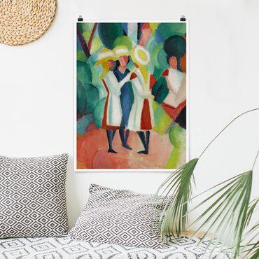Poster - August Macke - Tre ragazze - Verticale 4:3