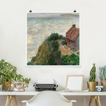 Poster - Claude Monet - Casa del Pescatore Petit Ailly - Quadrato 1:1