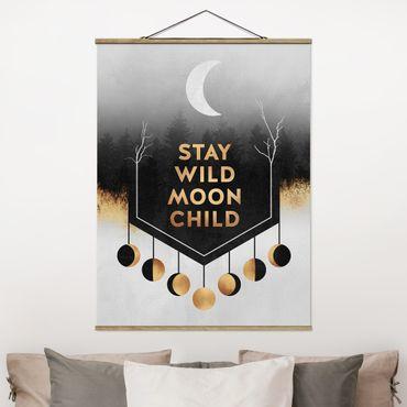 Foto su tessuto da parete con bastone - Elisabeth Fredriksson - Rimanere selvaggio Moon Child - Verticale 4:3