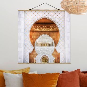 Foto su tessuto da parete con bastone - Porta della Moschea - Quadrato 1:1