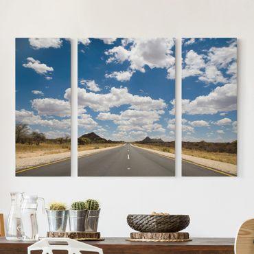 Stampa su tela 3 parti - Route 66 - Trittico