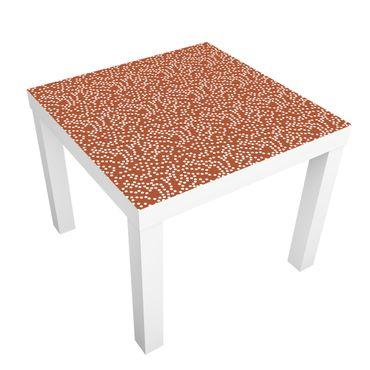 Carta adesiva per mobili IKEA - Lack Tavolino Aboriginal dot pattern Brown