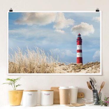 Poster - Faro nelle dune - Orizzontale 2:3