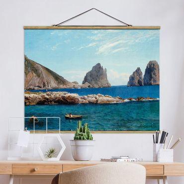 Foto su tessuto da parete con bastone - Albert Bierstadt - Off The Coast - Orizzontale 3:4