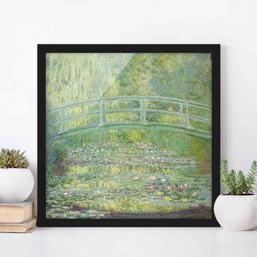 Poster con cornice - Claude Monet - Japanese Bridge - Quadrato 1:1