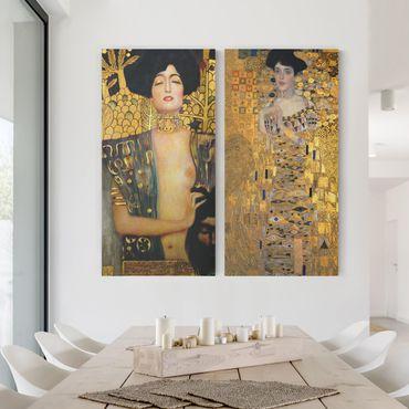 Stampa su tela 2 parti - Gustav Klimt - Judith and Adele - Verticale 2:1