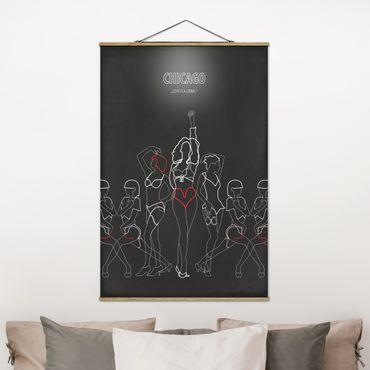 Foto su tessuto da parete con bastone - Film Poster Chicago - Verticale 3:2