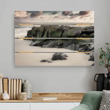 Stampa su legno - Rocce sulla spiaggia - Orizzontale 2:3