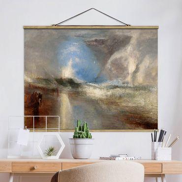 Foto su tessuto da parete con bastone - William Turner - Rockets - Orizzontale 3:4