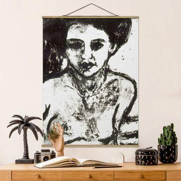 Foto su tessuto da parete con bastone - Ernst Ludwig Kirchner - Artisti Bambino - Verticale 4:3
