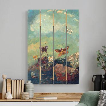 Stampa su legno - Odilon Redon - Butterflies - Verticale 3:2
