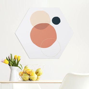 Esagono in forex - Line Art Circles Pastello
