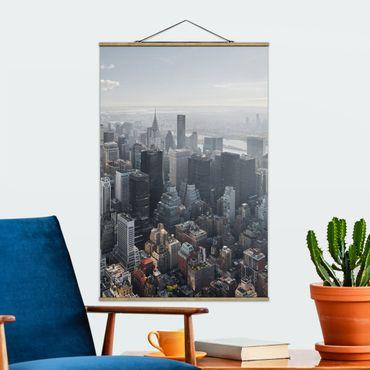 Foto su tessuto da parete con bastone - L'Empire State Building Upper Manhattan NY - Verticale 3:2
