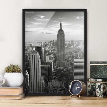 Poster con cornice - Manhattan Skyline - Verticale 4:3