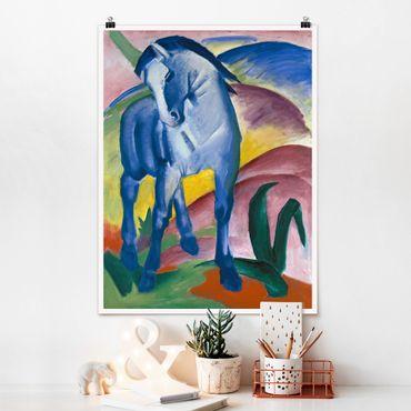 Poster - Franz Marc - Blue Horse - Verticale 4:3