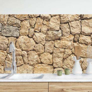 Rivestimento cucina - Antico muro in ciotoli